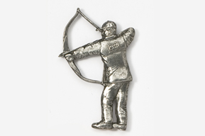 #903A - Traditional Bow Hunter Antiqued Pewter Pin