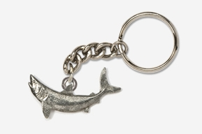 #K213 - Mako Shark Antiqued Pewter Keychain