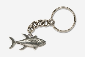 #K218 - Yellowfin Tuna Antiqued Pewter Keychain