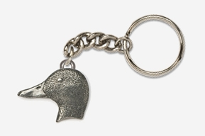 #K318 - Mallard Head Antiqued Pewter Keychain