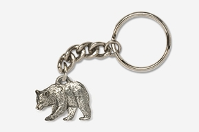 #K405 - Black Bear Antiqued Pewter Keychain