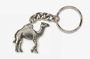#K449 - Camel Antiqued Pewter Keychain