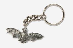 #K499 - Bat Antiqued Pewter Keychain