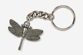 #K569 - Dragonfly Antiqued Pewter Keychain