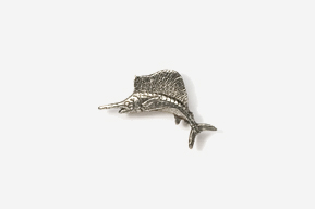 #M201 - Sailfish Pewter Mini-Pin