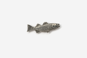 #M207 - Striper / Striped Bass Pewter Mini-Pin