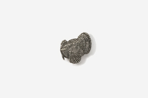 #M326 - Left Facing Strutting Turkey Pewter Mini-Pin