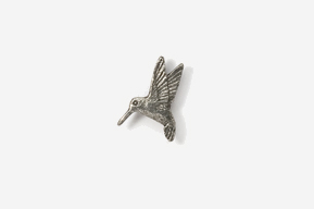 #M350 - Left Flying Hummingbird Pewter Mini-Pin