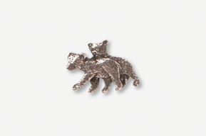 #M405D - Black Bear Cubs Pewter Mini-Pin