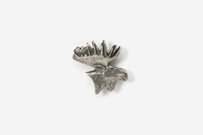 #M433 - Moose Head Pewter Mini-Pin