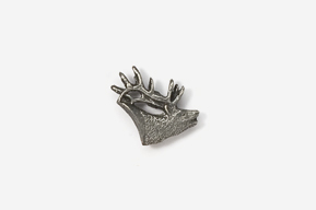 #M434 - Elk Head Pewter Mini-Pin