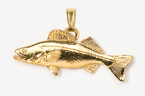 #P119G - Walleye 24K Gold Plated Pendant
