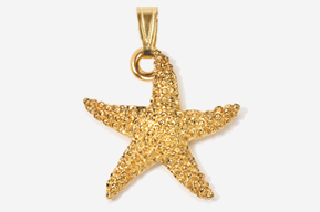 #P539G - Starfish 24K Gold Plated Pendant