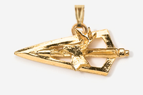 #P703DG - Broadhead & Deer 24K Gold Plated Pendant