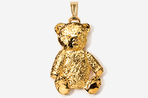 #P970G - Teddy Bear 24K Gold Plated Pendant