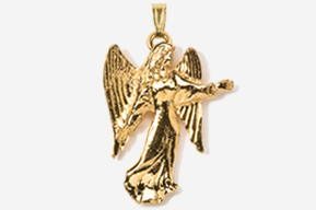 #P975G - Angel 24K Gold Plated Pendant