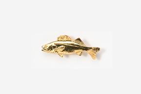 #TT119G - Walleye 24K Plated Tie Tac