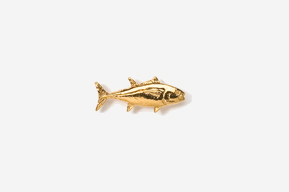 #TT202G - Bluefin Tuna 24K Plated Tie Tac