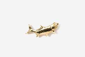 #TT209G - Right Facing Tarpon 24K Plated Tie Tac