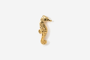 #TT269G - Seahorse 24K Plated Tie Tac