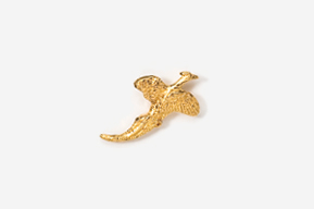 #TT301G - Flying Pheasant 24K Plated Tie Tac