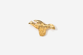 #TT309G - Flying Ruffed Grouse 24K Plated Tie Tac