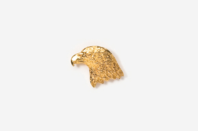 #TT330G - Eagle Head 24K Plated Tie Tac